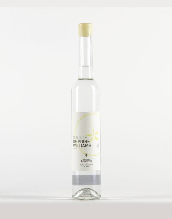 """Goutte de Poire Williams """"Passerillée"""" Distillerie Laurent Cazottes 45%"""