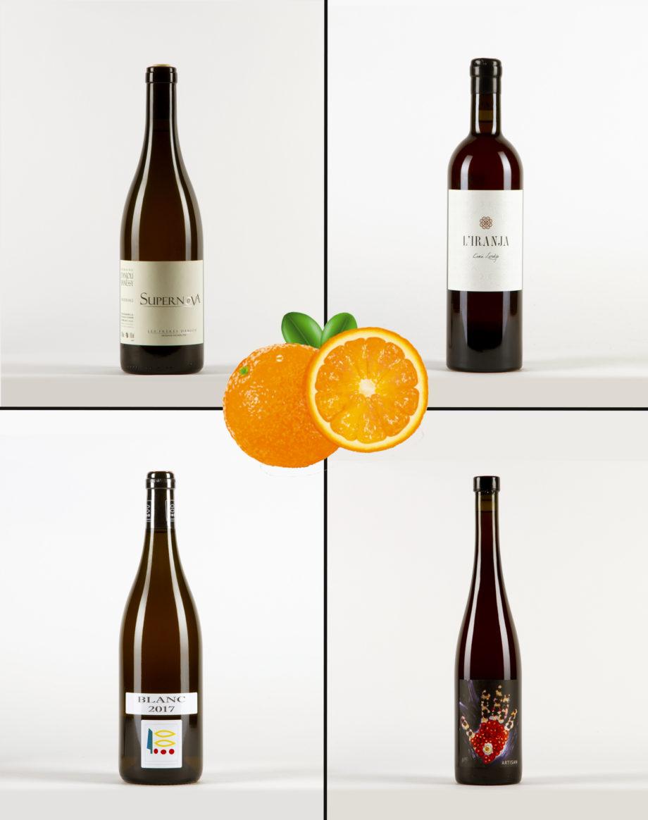 4 Textures de Vins Oranges